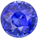 Lovely Cornflower Blue Sapphire Round Gem, Perfect Engagement Stone in 6.7 mm, 1.60 carats