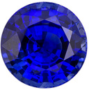 Rich Natural Blue Sapphire Loose Gem for Sale in Round Cut with Rich Blue Color 7.2 mm, 2.33 carats