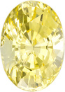 Loose Yellow Unheated Sapphire Gem in Oval Cut, Medium Pure Yellow, 8.62 x 6.17 x 5.23 mm, 2.24 carats - With GIA Certificate