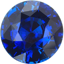 10mm Vivid Blue Ceylon Sapphire in Round Cut, Fine Gemstone in 10.00 x 9.93 mm, 5.01 Carats - With GRS Certificate