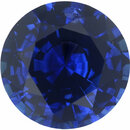 Bright & Lively Loose Blue Sapphire Gem in Round Cut, Slight Violet Hint, Rich Blue, 6.11 mm, 0.93 carats