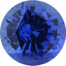 Low Price On Sapphire Loose Gem in Round Cut, Medium Violet Blue, 5.4 mm, 0.74 Carats