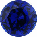 One-of-a-Kind Sapphire Loose Gem in Round Cut, Medium Violet Blue, 7.35 mm, 1.75 Carats