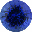 Real Sapphire Loose Gem in Round Cut, Medium Violet Blue, 6.9 mm, 1.69 Carats