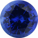 One-of-a-Kind Sapphire Loose Gem in Round Cut, Medium Violet Blue, 5.98 mm, 0.96 Carats