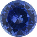 Amazing Sapphire Loose Gem in Round Cut, Vibrant Blue Violet, 5.74 mm, 0.89 Carats