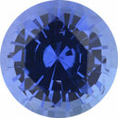 Magnificent Sapphire Loose Gem in Round Cut, Light Violet Blue, 5.46 mm, 0.78 Carats