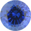 Nice Looking Sapphire Loose Gem in Round Cut, Medium Violet Blue, 6.44 mm, 1.38 Carats