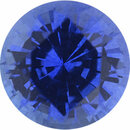 Faceted Sapphire Loose Gem in Round Cut, Medium Violet Blue, 5.36 mm, 0.77 Carats