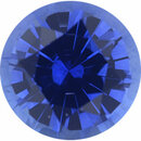 Nice Looking Sapphire Loose Gem in Round Cut, Medium Violet Blue, 5.6 mm, 0.8 Carats