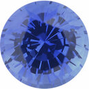 One-of-a-Kind Sapphire Loose Gem in Round Cut, Medium Violet Blue, 6.3 mm, 1.35 Carats
