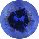 Special Buy On Sapphire Loose Gem in Round Cut, Medium Violet Blue, 5.9 mm, 1.04 Carats