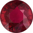 Nice Ruby Loose Gem in Round Cut, Vibrant Purple Red, 5.62 mm, 1.03 Carats