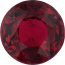Eye-Catching Ruby Loose Gem in Round Cut, Vibrant Red, 5.41 mm, 0.95 Carats