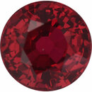 Unique Ruby Loose Gem in Round Cut, Vibrant Purple Red, 5.57 mm, 1.15 Carats