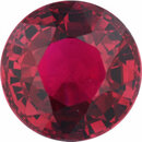 Bargain Priced Ruby Loose Gem in Round Cut, Vibrant Red, 5.8 mm, 1.13 Carats