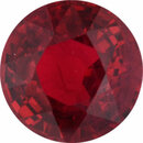 Magnificent Ruby Loose Gem in Round Cut, Vibrant Red, 6.21 mm, 1.26 Carats