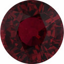 Excellent Value Ruby Loose Gem in Round Cut, Medium Orangy Red, 5.85 mm, 1.19 Carats