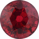 Gorgeous Ruby Loose Gem in Round Cut, Medium Orangy Red, 6.3 mm, 1.6 Carats
