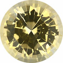 Gorgeous  Unheated Sapphire Loose Gem in Round Cut, Light Yellow, 6.92 mm, 1.63 Carats