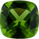 Rich Peridot Loose Gem in Antique Square Cut, Vibrant Yellow Green, 12.18 x 12.12 mm, 6.53 Carats