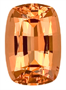 Unheated! Gorgeous Golden Peach Natural Brazilian Topaz for SALE, Beautiful Cut and Color!   Antique Cushion Cut, 4.10 carats -- SOLD