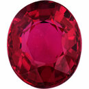 Eye-Catching  Unheated Ruby Loose Gem in Oval Cut,  Purple Red, 6.59 x 5.54  mm, 1.12 Carats