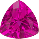 Vibrant Tourmaline Loose Gem in Trillion Cut, Fuchsia Pink, 8 mm, 1.75 carats