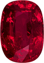 Unheated GIA Certified Cushion Cut Ruby Stone with Stunning Rich Red Color 7.8 x 5.4 mm, 1.56 carats