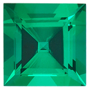 Grade GEM CHATHAM CREATED EMERALD Square Step Cut Gems  - Calibrated