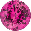 Grade GEM CHATHAM CREATED PINK SAPPHIRE Round Cut Gems  - Calibrated