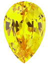 Grade GEM CHATHAM CREATED YELLOW SAPPHIRE Pear Cut  - Calibrated