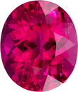 On Fire Rubelite Tourmaline Loose Gem in Oval Cut, Intense Pinkish Fuchsia, 10.8 x 9.2 mm, 4.05 carats