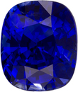 Vivid Royal Blue Sapphire Loose Gem in Cushion Cut, Super Ring Stone in 7.8 x 6.5 mm, 2.56 carats
