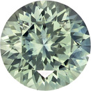 Hard to Find Round Cut Blue Green Sapphire Loose Gem, Seafoam Blue Green, 5.4 mm, 0.71 carats