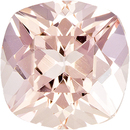 Fiery Antique Square Cut Morganite Loose Gem,  Peach Pink Color in 8.1 mm, 2.20 carats