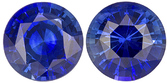 Lovely Well Matched Blue Sapphire Stones in Round Cut, Medium Rich Blue, 4.9 mm, 1.13 carats - SOLD