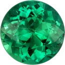 Special Quality Emerald Loose Round Gemstone, Fine Rich Green Color, 7.1 mm, 1.17 carats