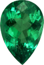 Pear Cut Emerald Loose Fine Gemstone in Vivid Rich Green Color, 11.6 x 7.8 x mm, 2.56 carats