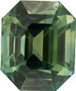 Rare Colors in AGL Certified Sapphire Gemstone, Rich BiColor Blue Yellow Green, 8.1 x 6.8 mm, 3.13 carats
