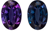 Very Lively Alexandrite Loose Oval Cut Gem in Teal Blue Green to Vivid Burgundy, 6.3 x 4.4 mm, 0.50 carats