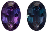 Genuine Brazil Classic Alexandrite - 100% Color Change to Teal Blue to Burgundy, 6.6 x 4.4 mm, 0.58 carats