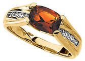 14KT Yellow Gold Madeira Citrine & 1/5 Carat Total Weight Diamond Ring