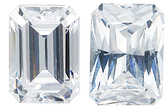 WHITE CUBIC ZIRCONIA Emerald Cut Gems