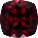 Vibrant Burgundy Red Rhodolite Loose African Gem in Antique Square Cut, 8.9 mm, 3.83 Carats