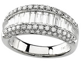 Eye-catching 1.50 Carat Total Weight 3.30 mm Diamond Ring set in 14 karat White Gold