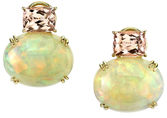 Must See These! Oval Crystal Ethiopian Opals & 4.4 carat Kunzite Multi Gem Earrings - SOLD