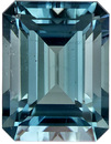 Attractive Blue Tourmaline Loose Gem in Emerald Cut, Open Icy Blue, 8.5 x 6.5 mm 2.16 carats