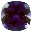 Grade GEM CHATHAM CREATED ALEXANDRITE Antique Square Cut  - Calibrated