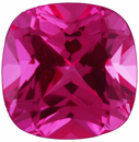 Grade GEM CHATHAM CREATED PINK SAPPHIRE Antique Square Cut  - Calibrated